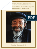 Keorapetse 'Bra Willie' Kgositsile Funeral Service Programme