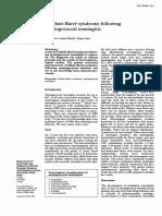 Guillain-Barre syndrome following meningococcal meningitis