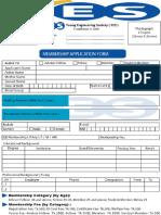 (YES) Membership Application Form