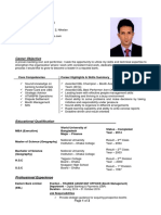 Resume of Md. Motahar Hossain