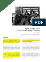 Aprendizajes Para La Economia Social
