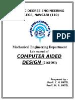 Cad Lab Manual-2016