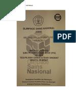 Soal Asli Olimpiade SD Mapel IPA 2017 Propinsi