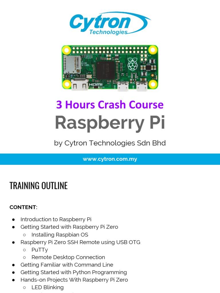 3 Hours Raspberry Pi Crash Course | Raspberry Pi | Boolean