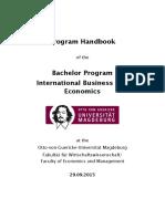 OVGU IBE Program Handbook