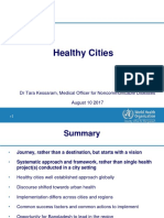 Healthy Cities Presentation 10 Aug