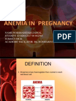 Anaemia in Pregnancy