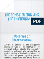 The Constitution and the Environment