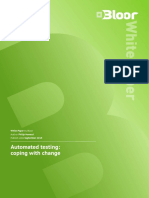 Automated Testing Coping With Change Blo Or