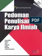 Pedoman Penulisan Karya Ilmiah 2017 (PPKI UM)