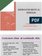 2. Indikator Mutu & Kinerja