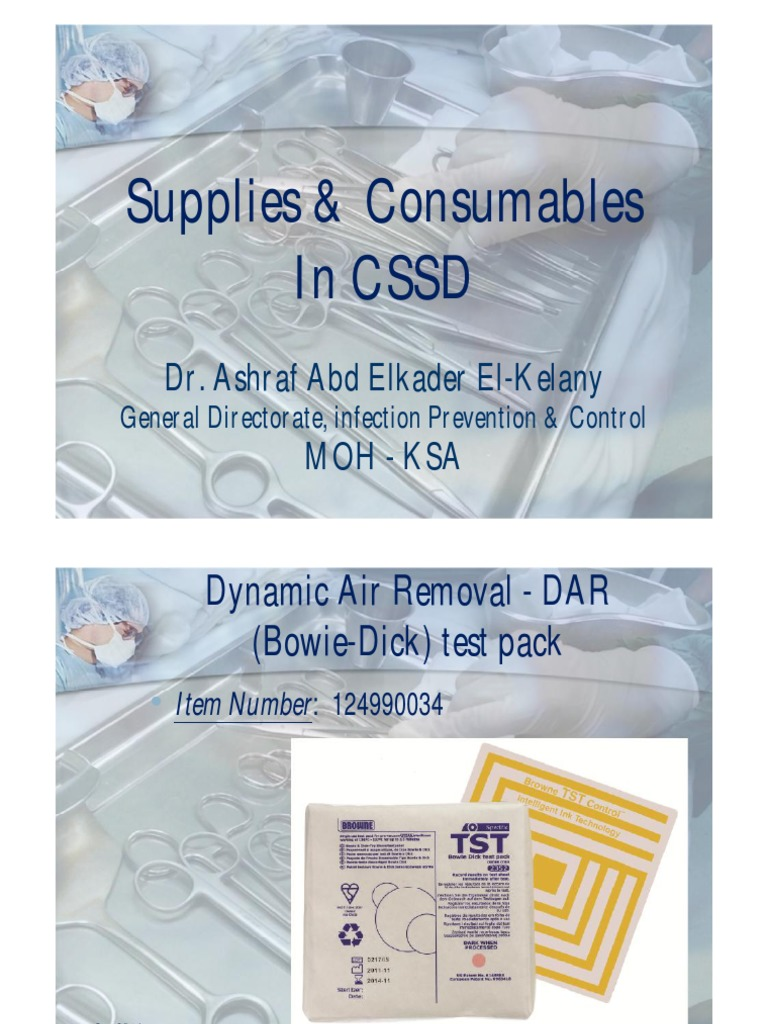 Supplies Consumables In Cssd Sterilization Microbiology