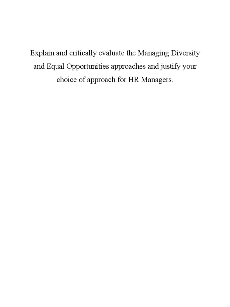 diversity in the workplace essay cdl bus driver cover letter managing diversity vs equal opportunity approaches equal 1509685475 managing diversity vs equal opportunity approaches diversity in the workplace essay