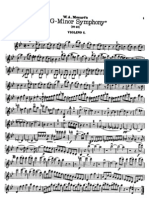 Symphony No 40 Mozart Violin 1