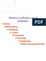 Barriers to Effective Use of Language1
