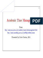 Academic Time Management