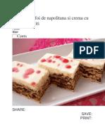 Prajitura Cu Foi de Napolitana Si Crema Cu Nuci Si Biscuiti