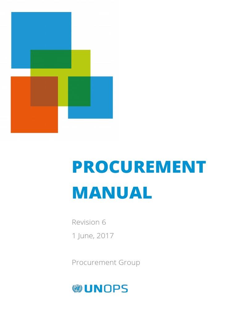 UNOPS Procurement Manual En | Procurement | Request For Proposal