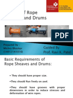 Design of Rope Drums
