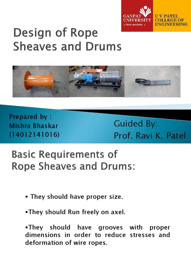 Design of Rope Drums