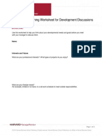Employee Planning Worksheet for Development Discussions