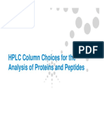 Column Choices for Proteins - Agilent