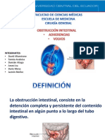 Obstruccion Intestinal Por Adherencias y Volvulos f