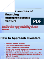 Various Sources of Financing Ent Venture