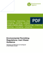 Environmental Permitting Regulations Inert Waste Guidance