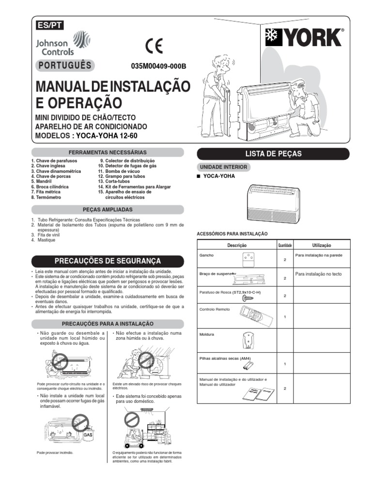 Manual YORK Piso Teto