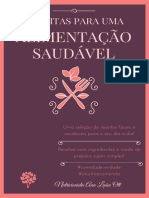 RECEITAS PARA UMA ALIMENTAÇÃO SAUDÁVEL