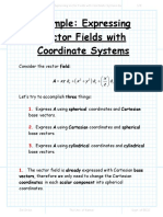 Example Expressing Vector Fields With Coordinate Systems