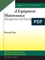 Medical Equipment Maintenance Management and Oversight - Binseng Wang