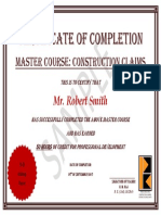 Construction Claims - Certificate of Completion