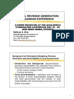 018 - Local Revenue Generation - Ugandan Experience