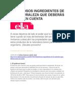 LPG - Revista Ella - Poderosos Ingredientes de La Naturaleza Que Deberas Tener en Cuenta - 24 01 2017