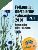 Folkpartiet Valmanifest 2010