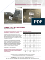 Dura System Grease duct access door