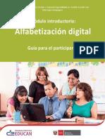 Modulo Alfabetizacion Digital