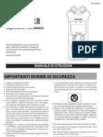Manuale Tascam DR-07 MK II