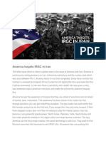 America Targets IRGC in Iran