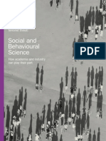 Social and Behavioural Science - How Academia & Industry Can Play Their Part