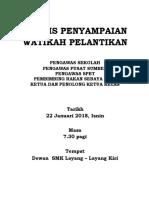 Buku Program Majlis Penyampaian Watikah Pelantikan Pengawas 2018