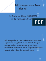 Tugas Presentasi Mikroorganisme Tanah Dan Air - Kelas 3B