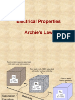 Electrical Properties Archie Law