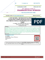 A NEW RP-HPLC METHOD DEVELOPMENT AND VALIDATION, STRESS DEGRADATION STUDIES OF EFAVIRENZ IN BULK AND PHARMACEUTICAL DOSAGE FORM
