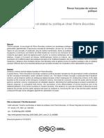 ADDI Violence Symbolique Et Statut Du Politique Chez Pierre Bourdieu