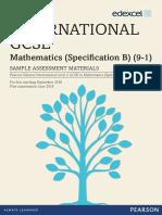 International GCSE Maths (9-1) Spec B (4MB1) Sample Assessment Materials