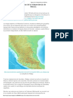 Mapas de La Independencia de México