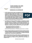 COMUNICADO PNP  N° 01 - 2018